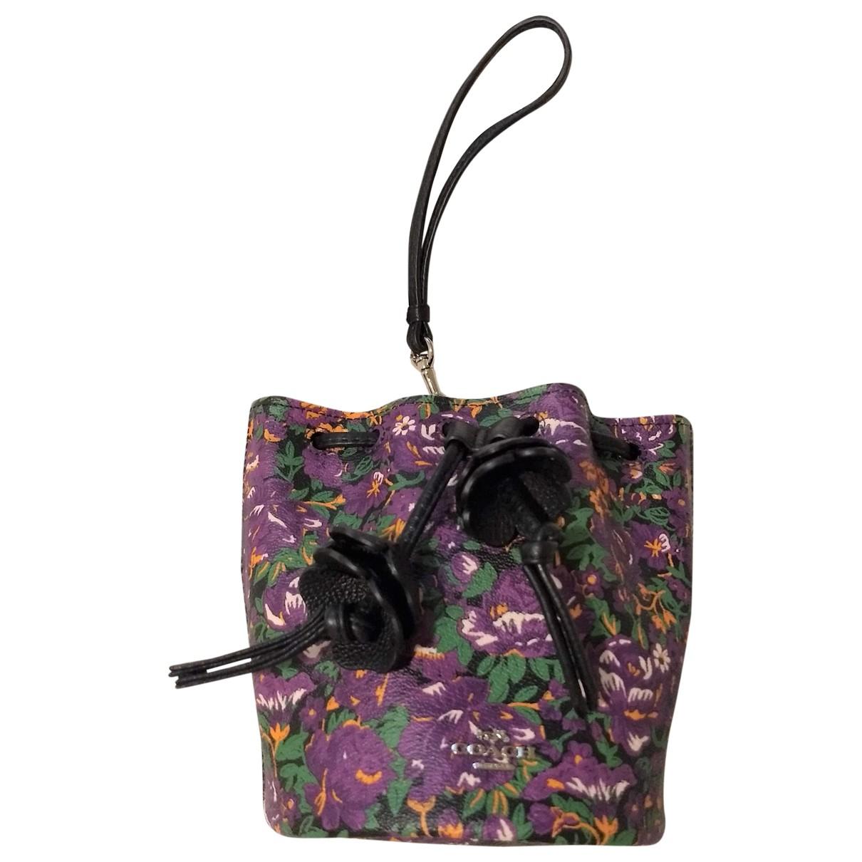 Coach N Purple Cloth handbag for Women N