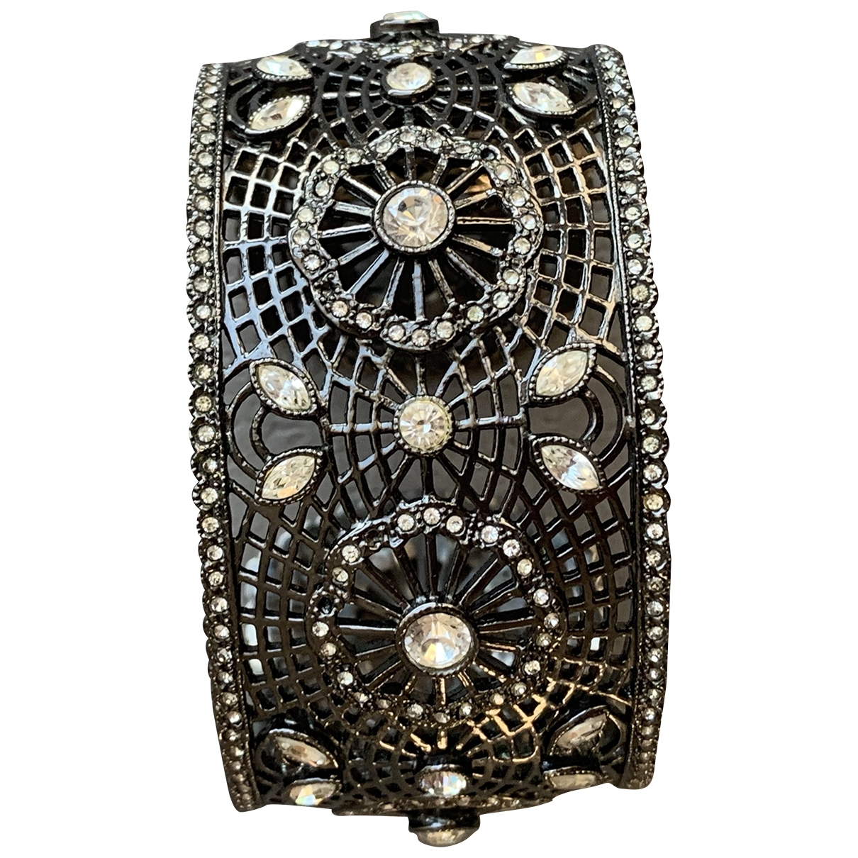 Non Signé / Unsigned Motifs Ethniques Anthracite Metal bracelet for Women \N