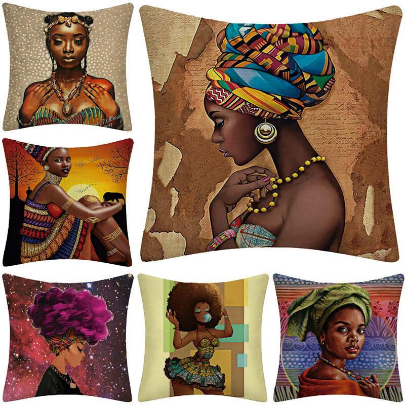 Beauty Woman Pillow Case Linen Pillow Cushion Cover Home Car supplies
