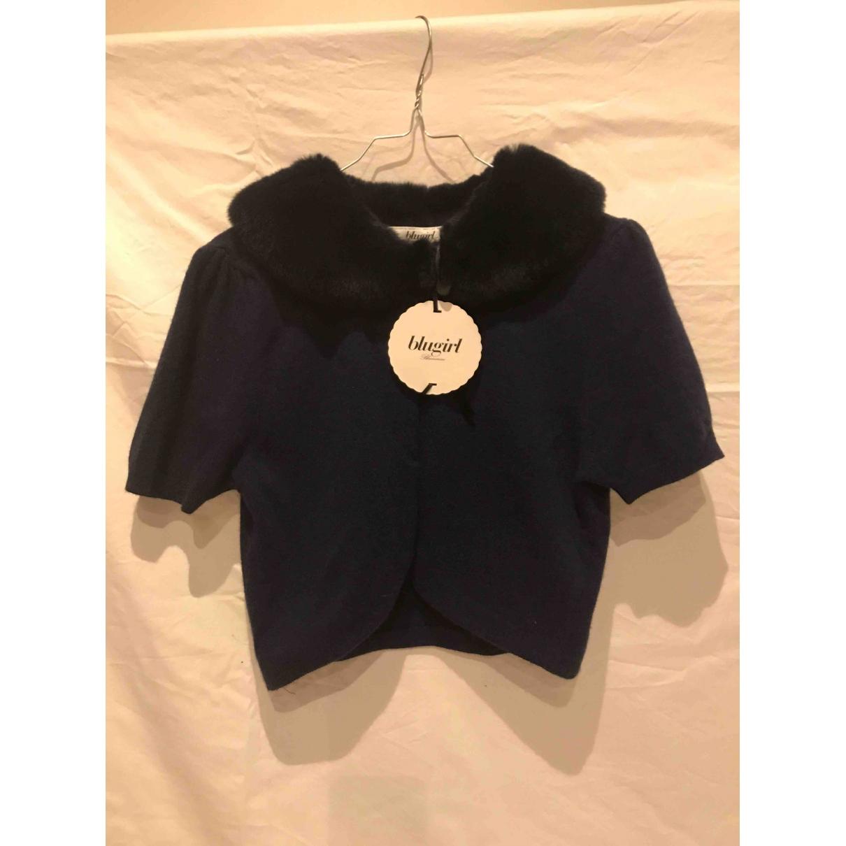 Blumarine - Pull   pour enfant en laine - bleu