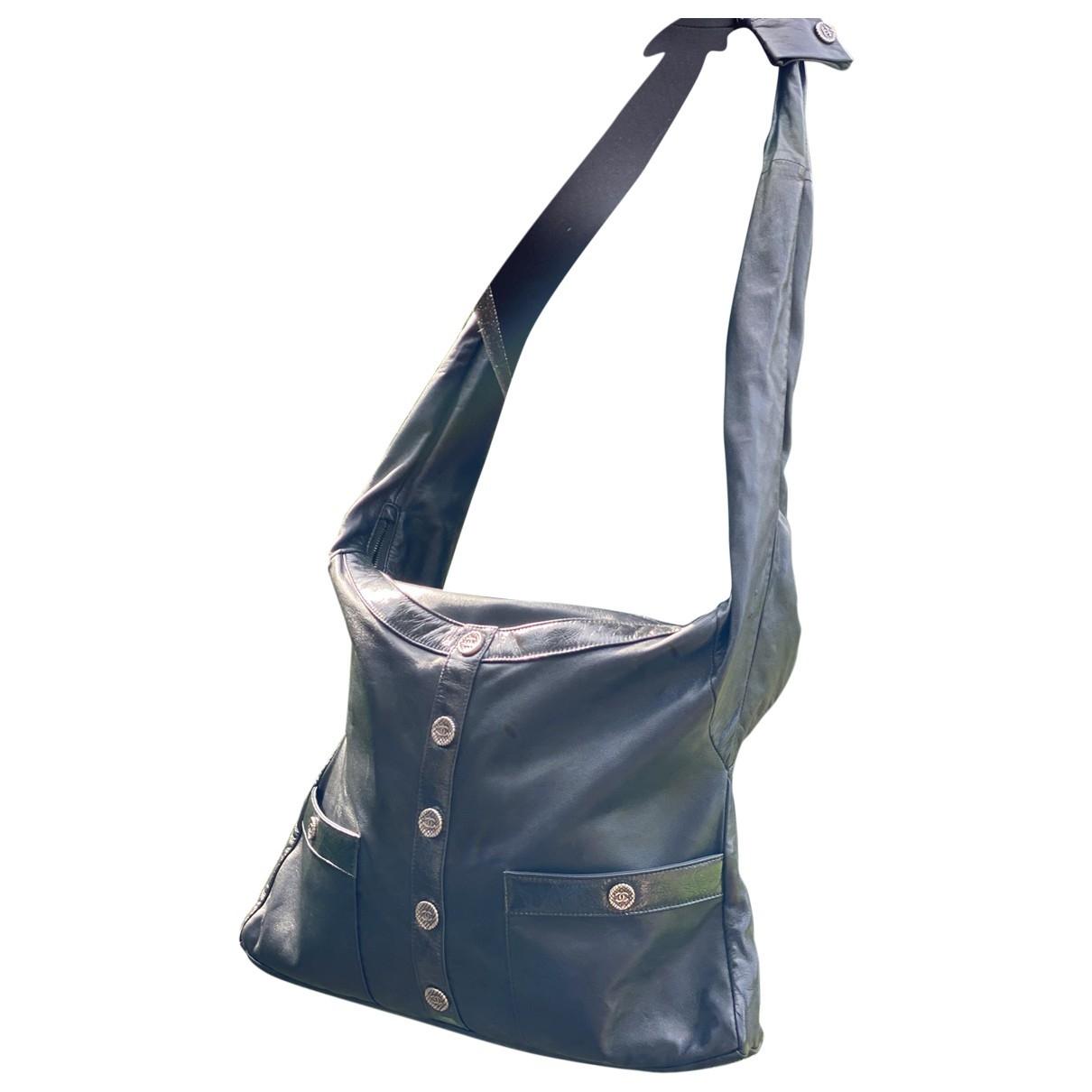 Chanel Girl Handtasche in  Schwarz Leder