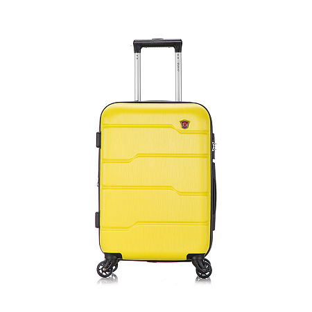 DUKAP Rodez Lightweight Hardside Spinner 20'' Carry-On, One Size , Yellow