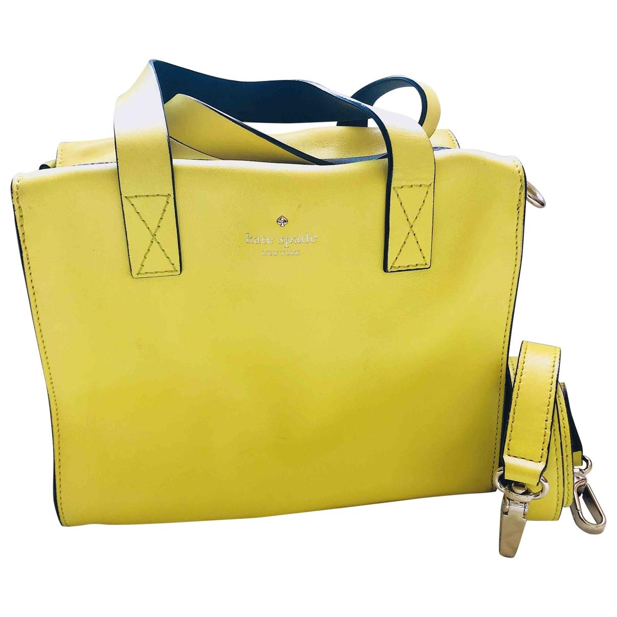 Kate Spade - Sac a main   pour femme en cuir - jaune