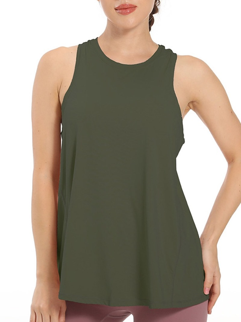 Ericdress Anti-Sweat Solid Sleeveless Pullover Tops