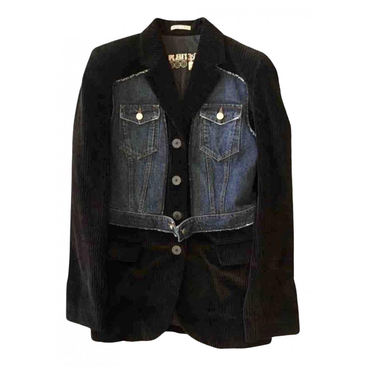Jean Paul Gaultier N Blue Velvet jacket for Women 40 FR