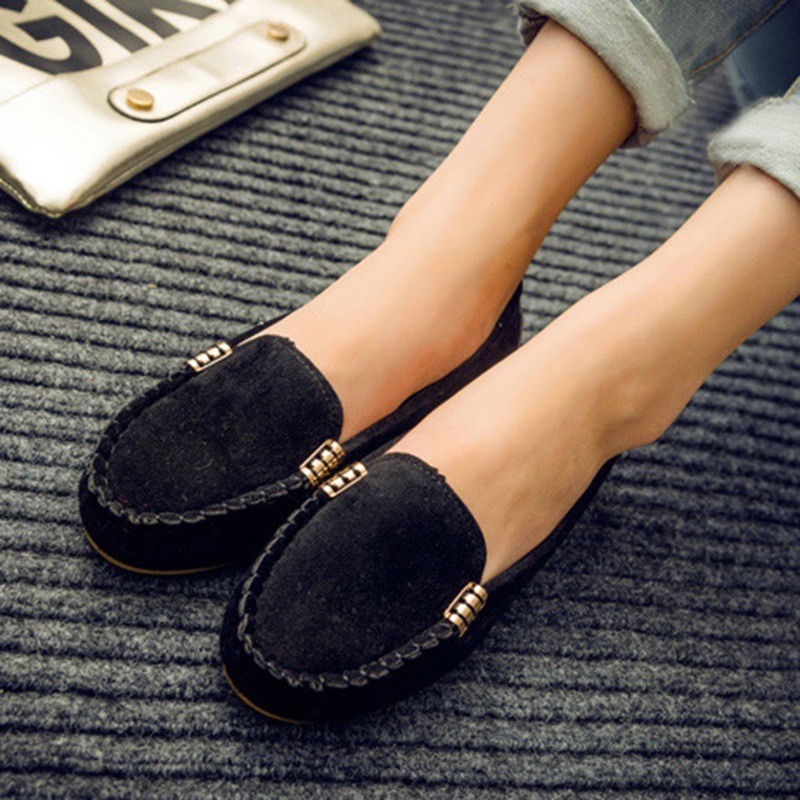 Ericdress Comfy Round Toe Plain Women's Flats