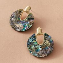 1pair Shell Geometric Stud Earrings