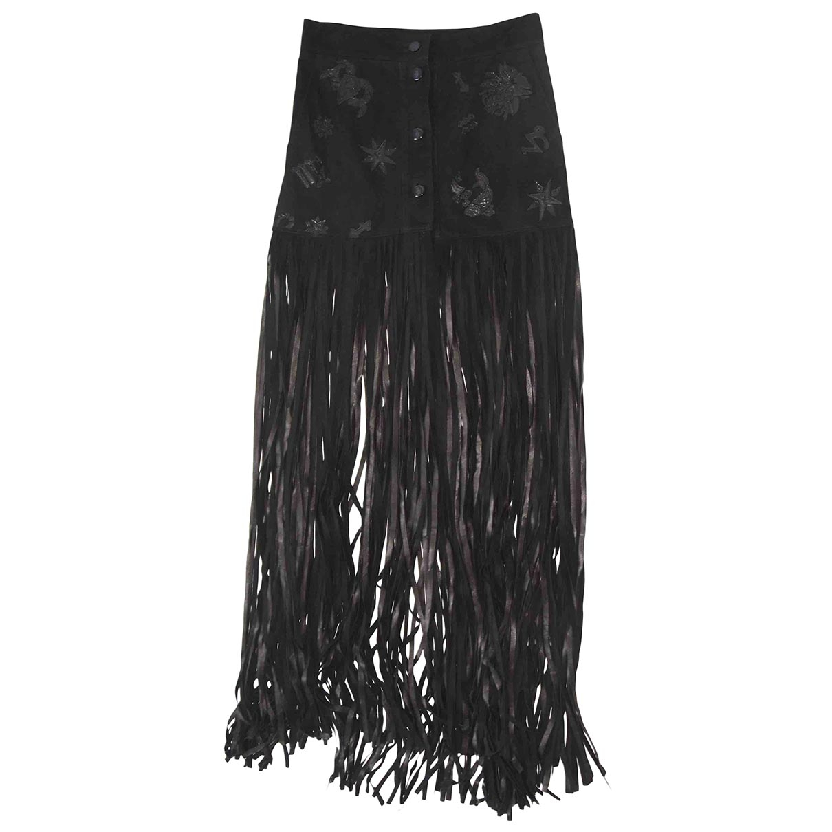 Emilio Pucci \N Black Suede skirt for Women 40 IT