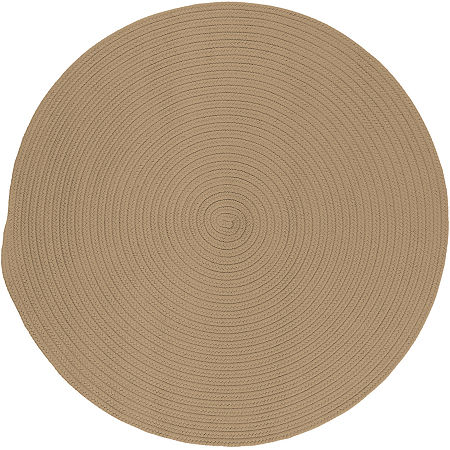 Colonial Mills Nantucket Reversible Braided Indoor/Outdoor Round Rug, One Size , White