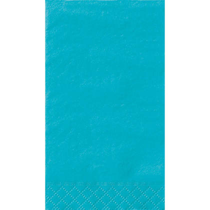 Party Guest Towel Napkins Solid Color 33*40cm 13*16In 2-Ply Caribbean Teal 20Pcs