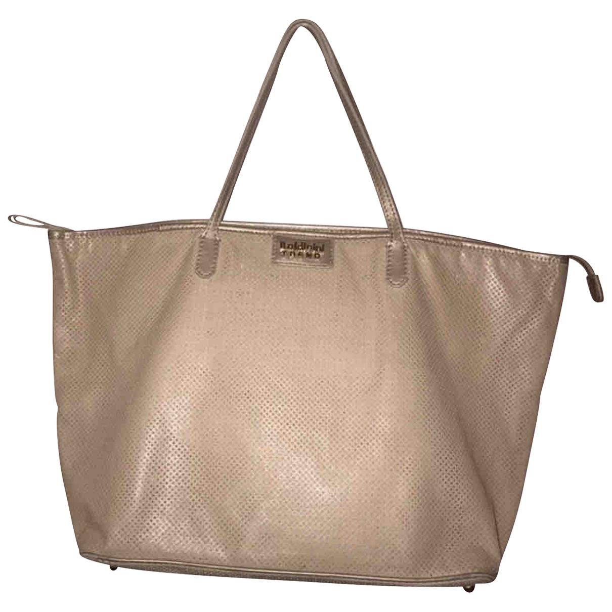 Baldinini - Sac de voyage   pour femme en cuir - beige