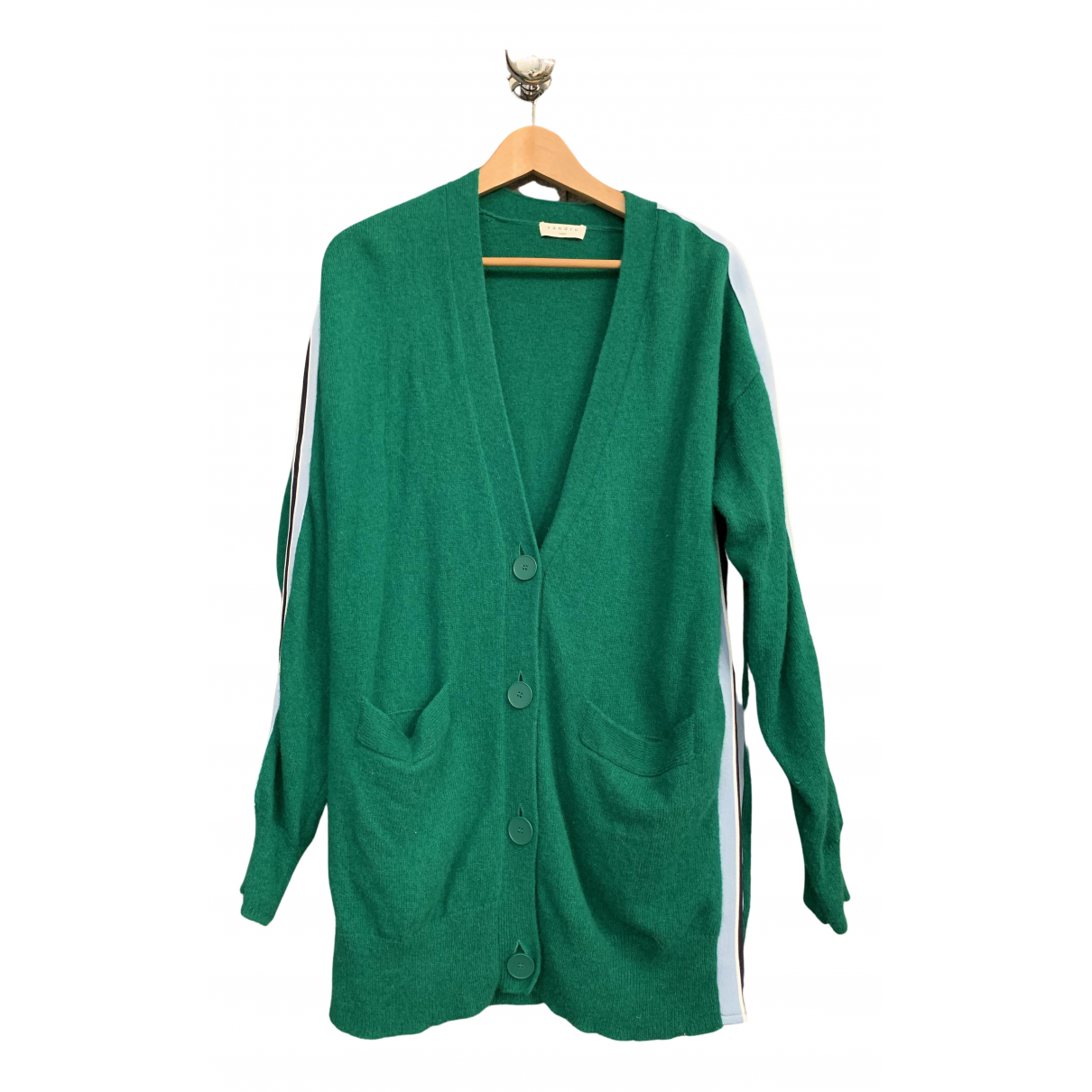 Sandro N Green Wool Knitwear for Women 38 FR