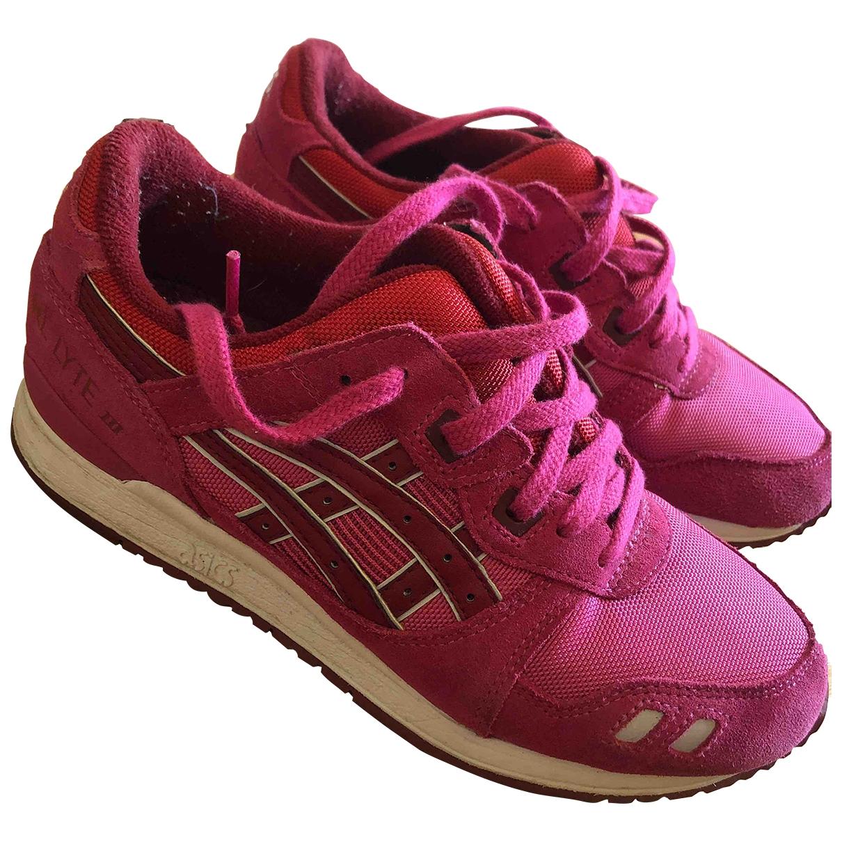 Asics - Baskets   pour femme en suede - rose