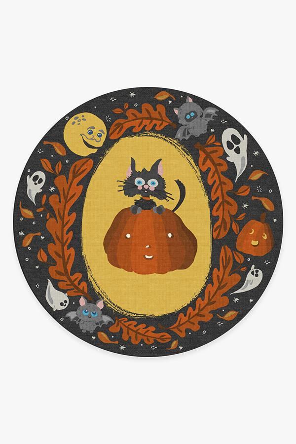 Washable Rug Cover | Scaredy Cat Rug | Stain-Resistant | Ruggable | 8' Round