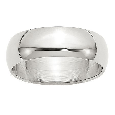 7MM Sterling Silver Wedding Band, 7 , No Color Family