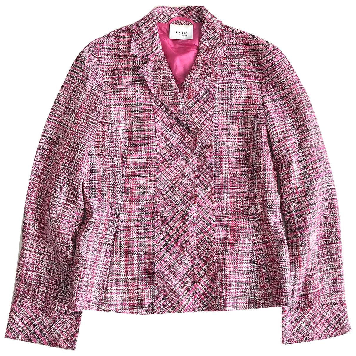 Akris Punto - Veste   pour femme en soie - rose