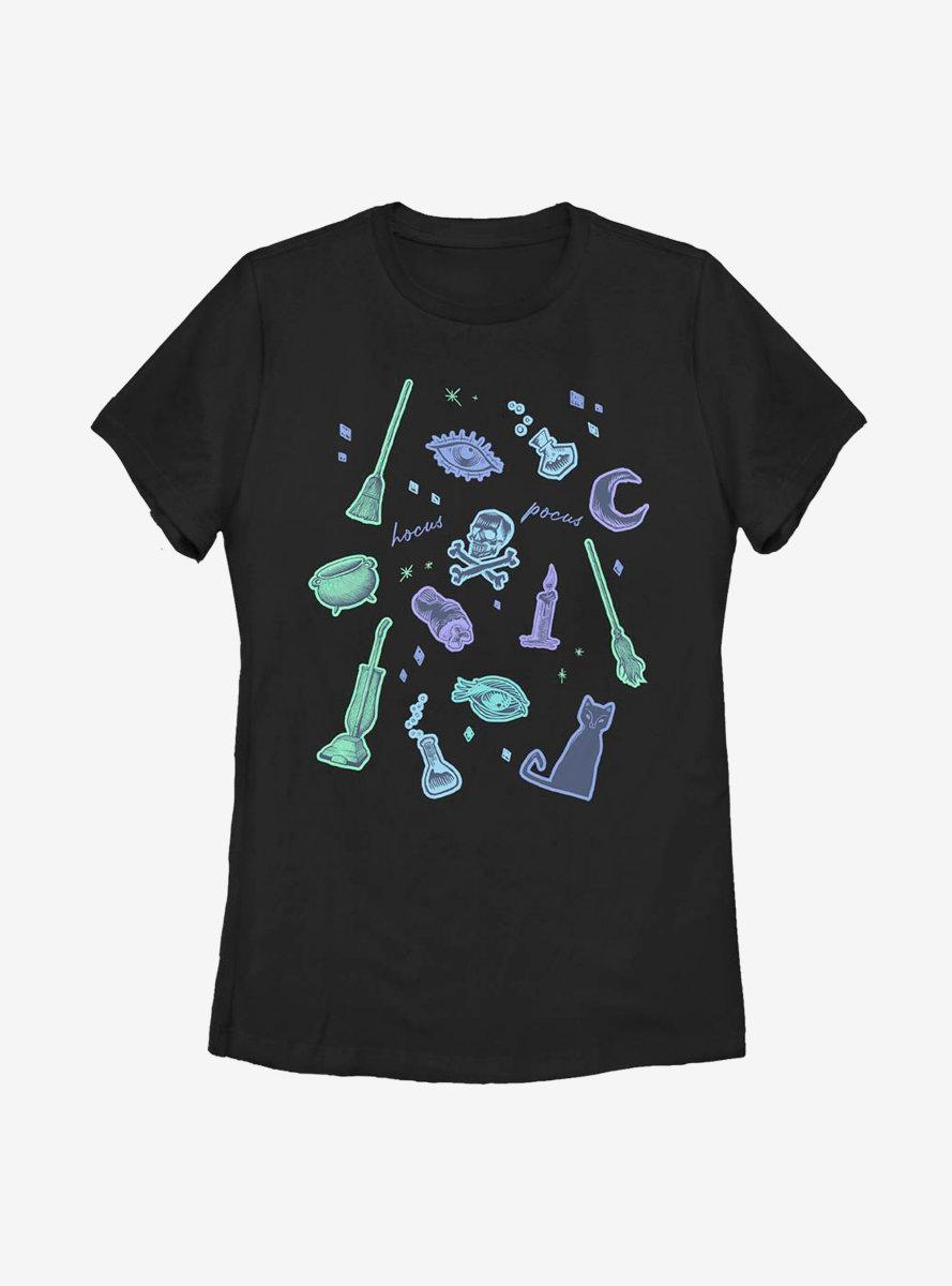 Disney Hocus Pocus Spooky Icons Womens T-Shirt
