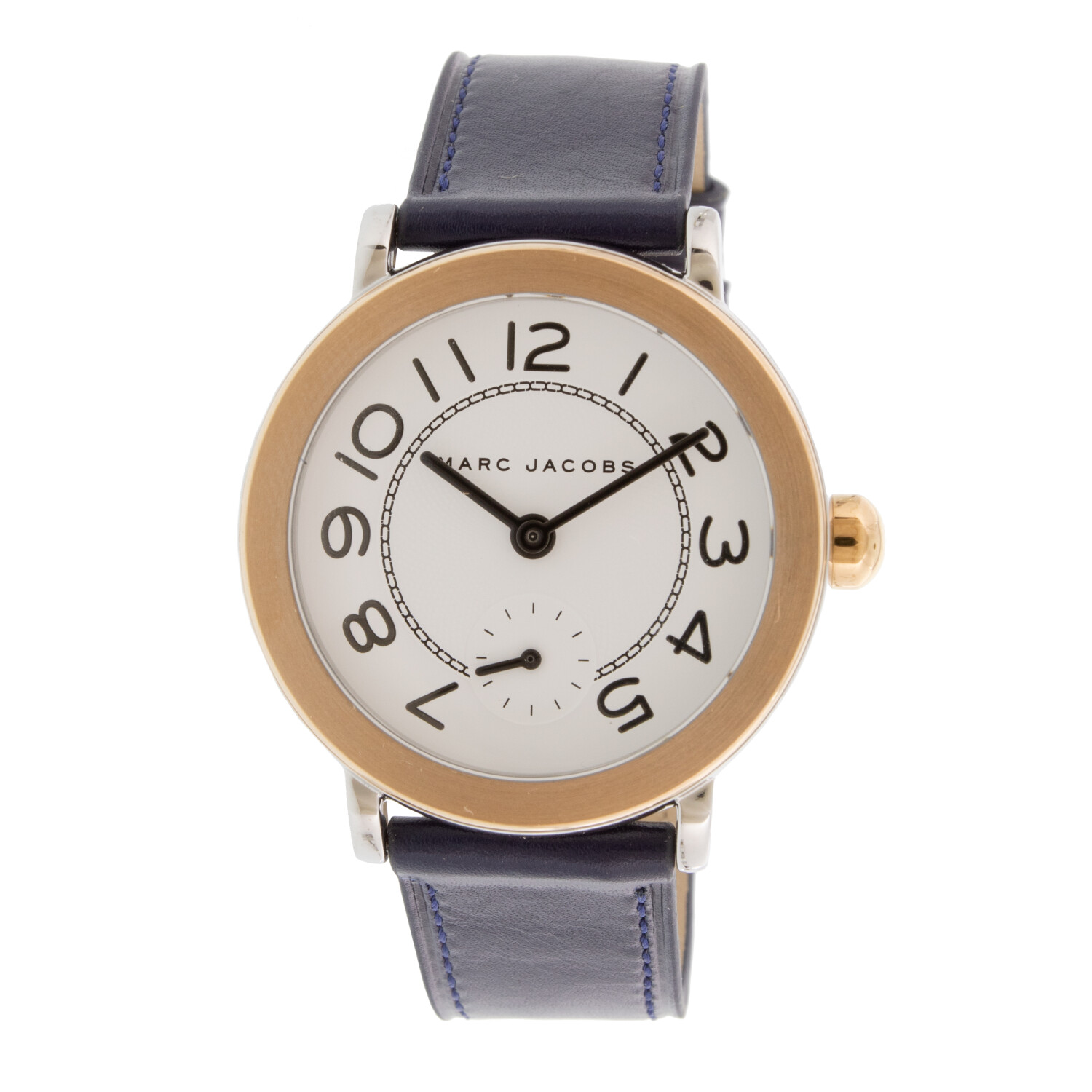 Marc Jacob Women's Riley MJ1602 Rose-Gold Leather Quartz Fashion Watch