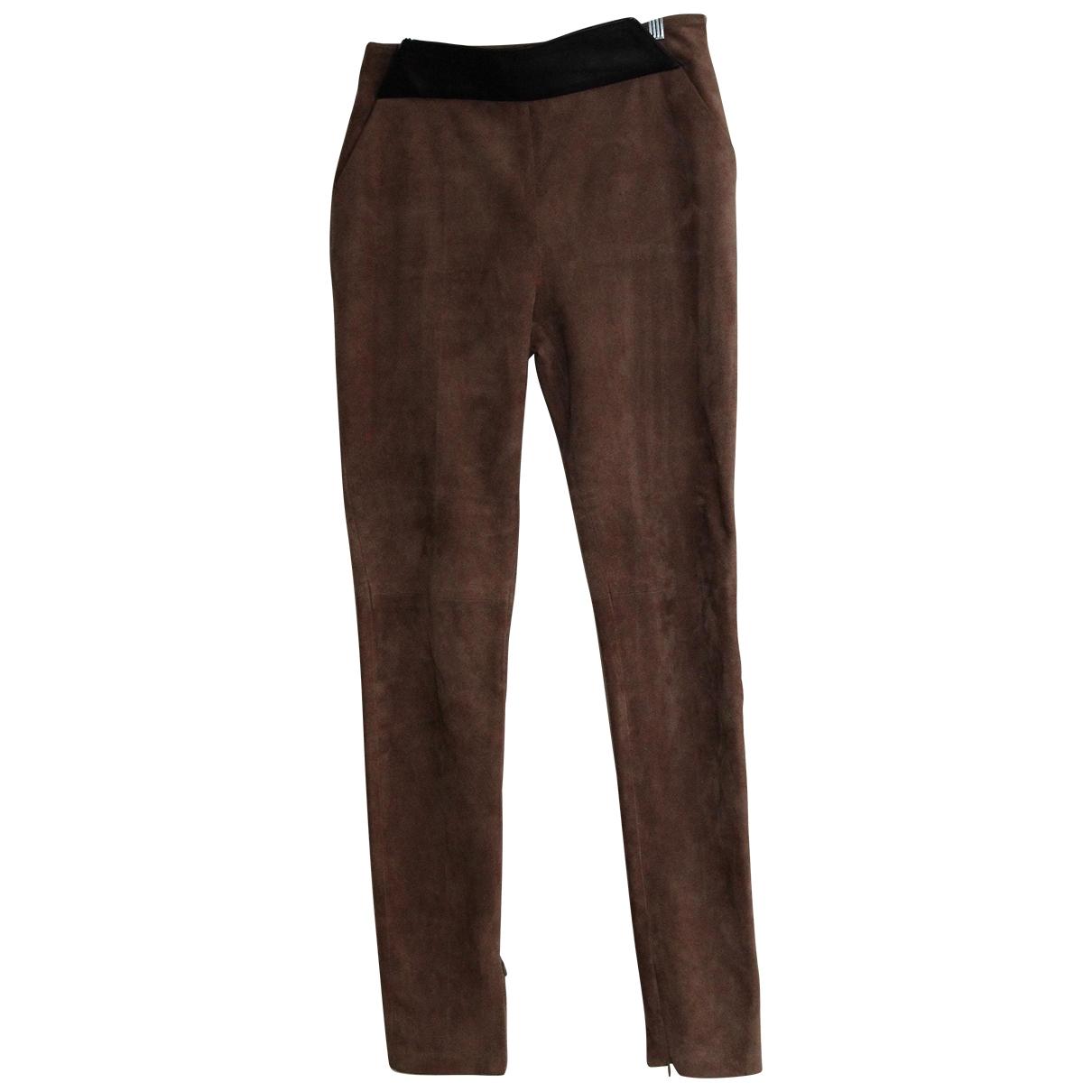 Iceberg - Pantalon   pour femme en cuir - marron