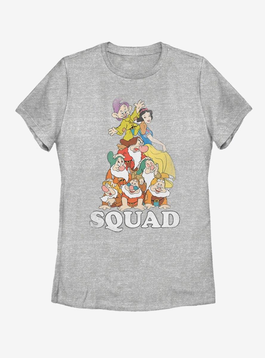 Disney Snow White Squad Dwarfs Womens T-Shirt