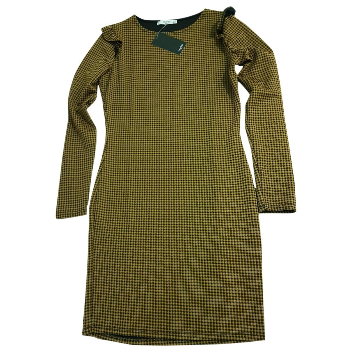 Mango \N Kleid in  Gelb Polyester