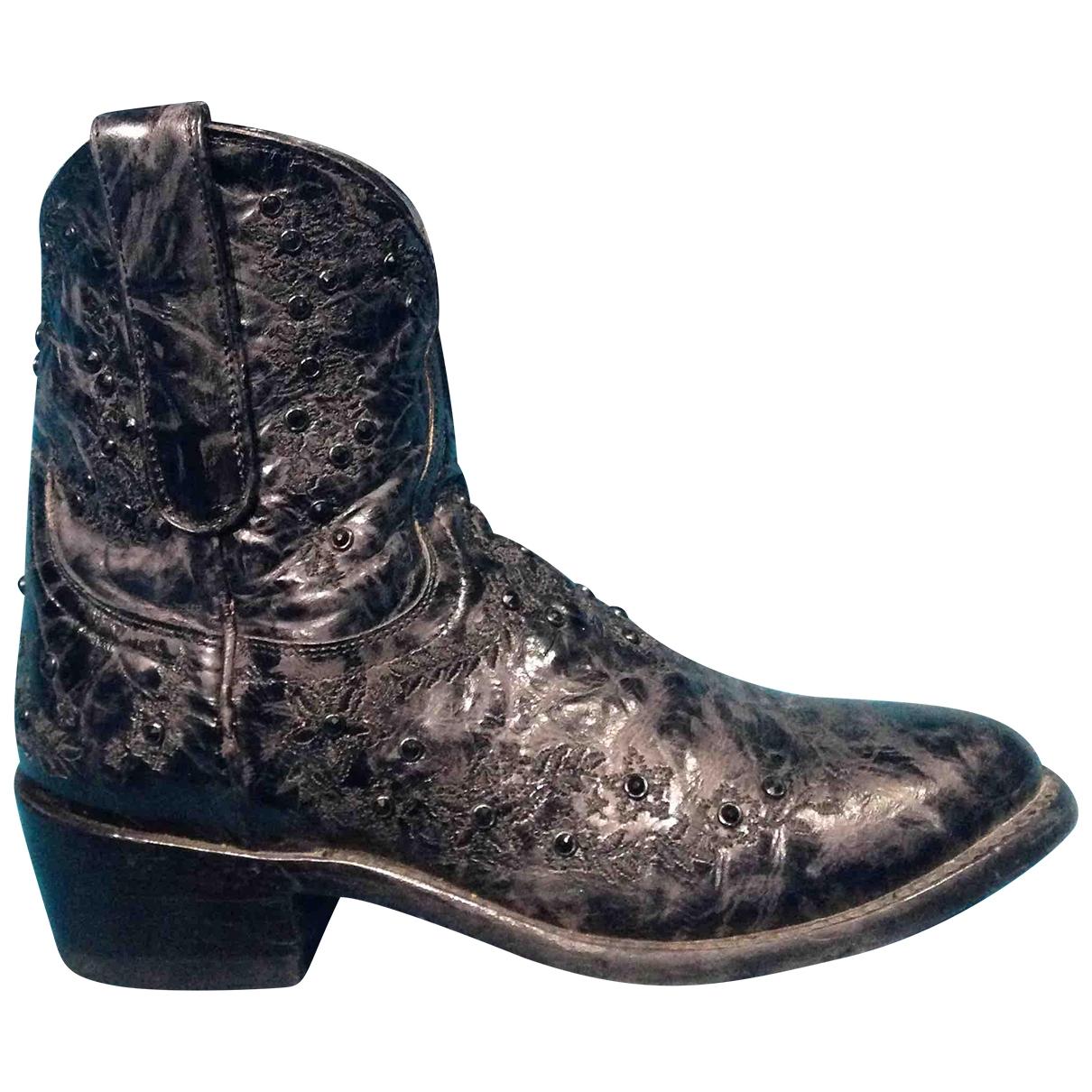 Mexicana - Boots   pour femme en cuir - noir