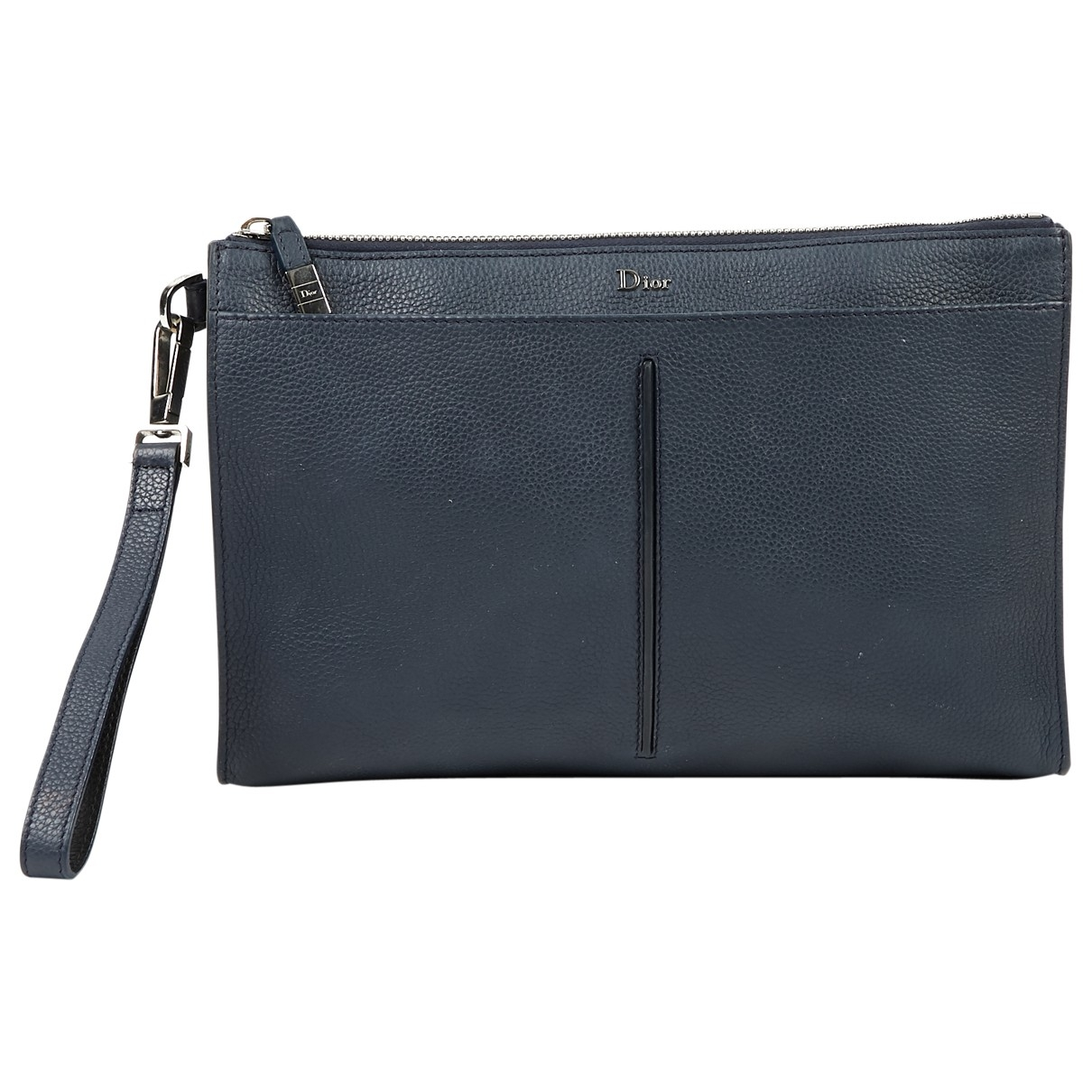 Dior \N Navy Leather Purses, wallet & cases for Women \N