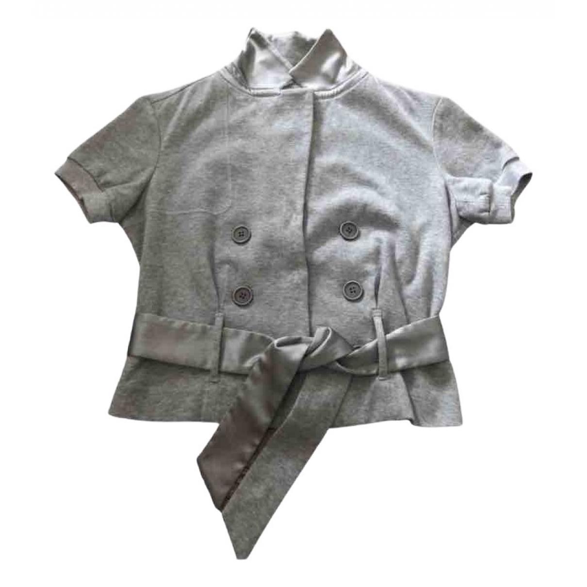 Brunello Cucinelli \N Grey Cotton jacket for Women L International