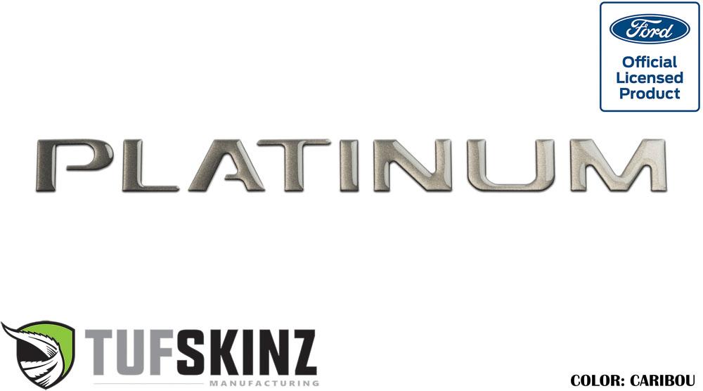 Tufskinz FDD001-CAR-G Tailgate Inserts Fits 2015-2021 F-150 Platinum models 8 Piece Kit in Caribou