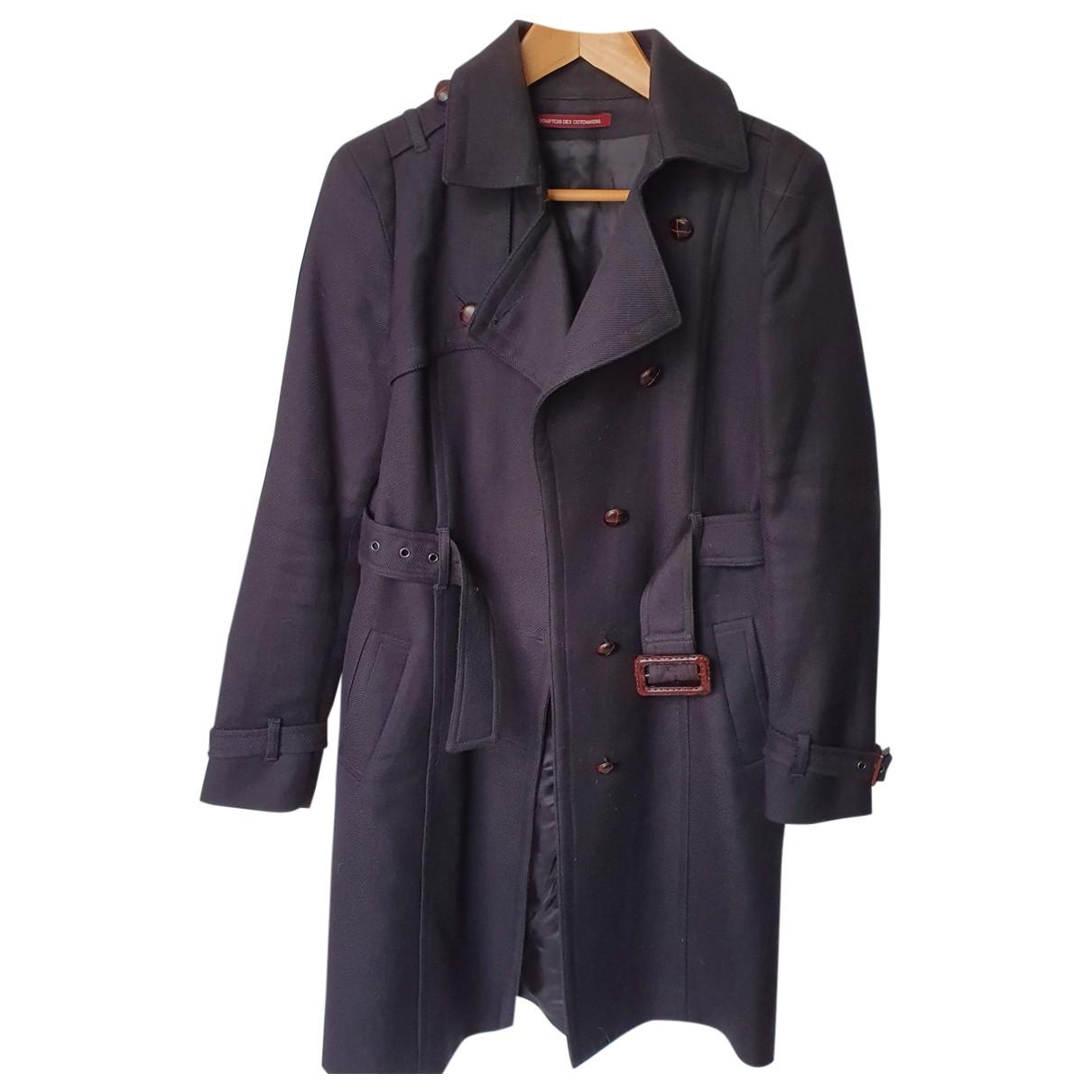 Comptoir Des Cotonniers \N Black Wool coat for Women 40 FR