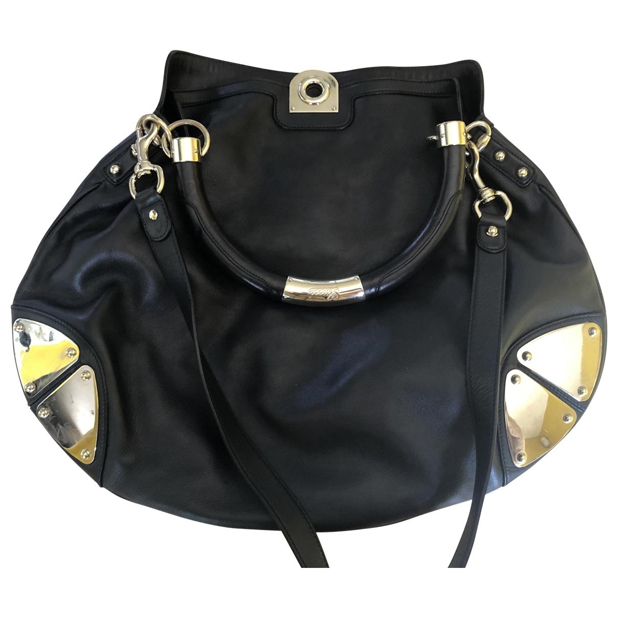 Gucci Indy Black Leather handbag for Women \N
