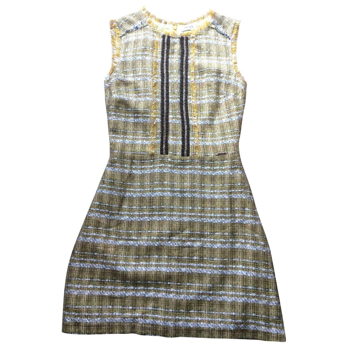 Liu.jo \N Kleid in  Gelb Baumwolle