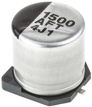 Panasonic 1500μF Electrolytic Capacitor 10V dc, Surface Mount - EEEFT1A152AP (5)