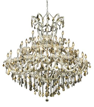 2800G52C-GT/RC 2800 Maria Theresa Collection Large Hanging Fixture D52in H54in Lt: 40+1 Chrome Finish (Royal Cut Golden