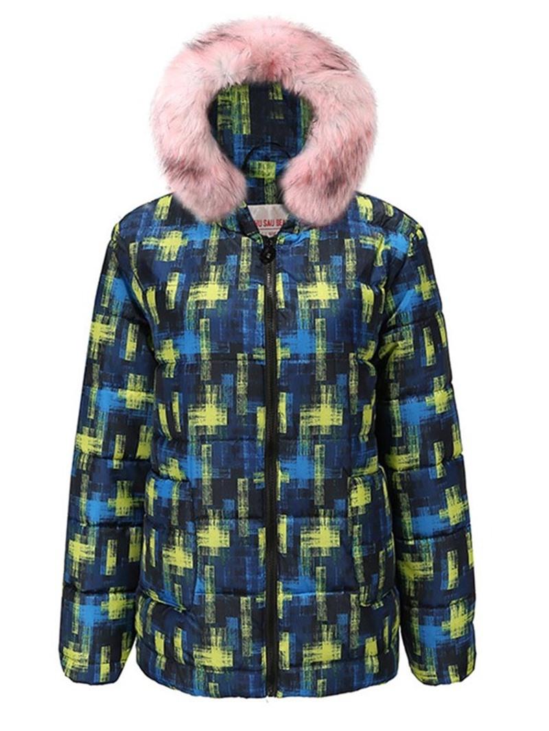 Ericdress Zipper Loose Mid-Length Cotton Padded Womens Jacket