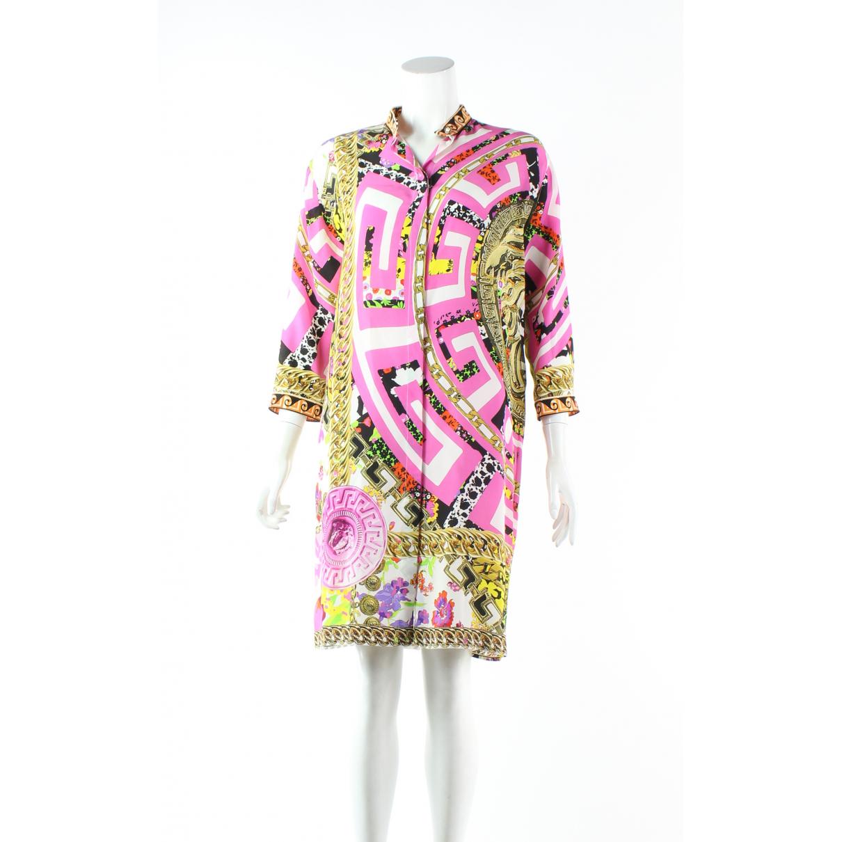 Versace - Robe   pour femme en soie - multicolore