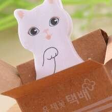 1pc Cat Pattern Sticky Note