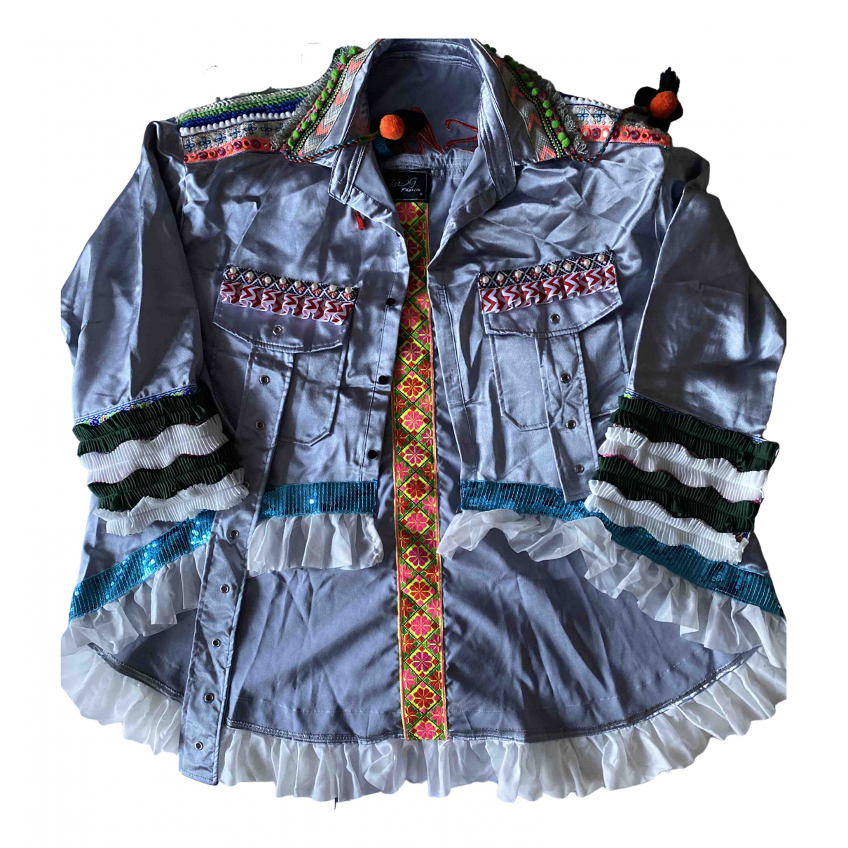 Non Signé / Unsigned \N Silver jacket for Women S International