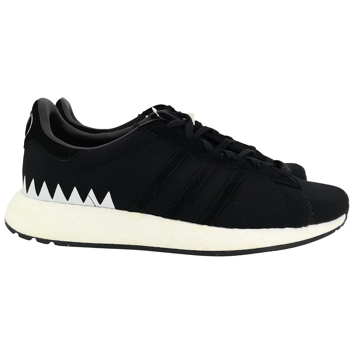 Adidas X Neighborhood - Baskets   pour homme en cuir - noir