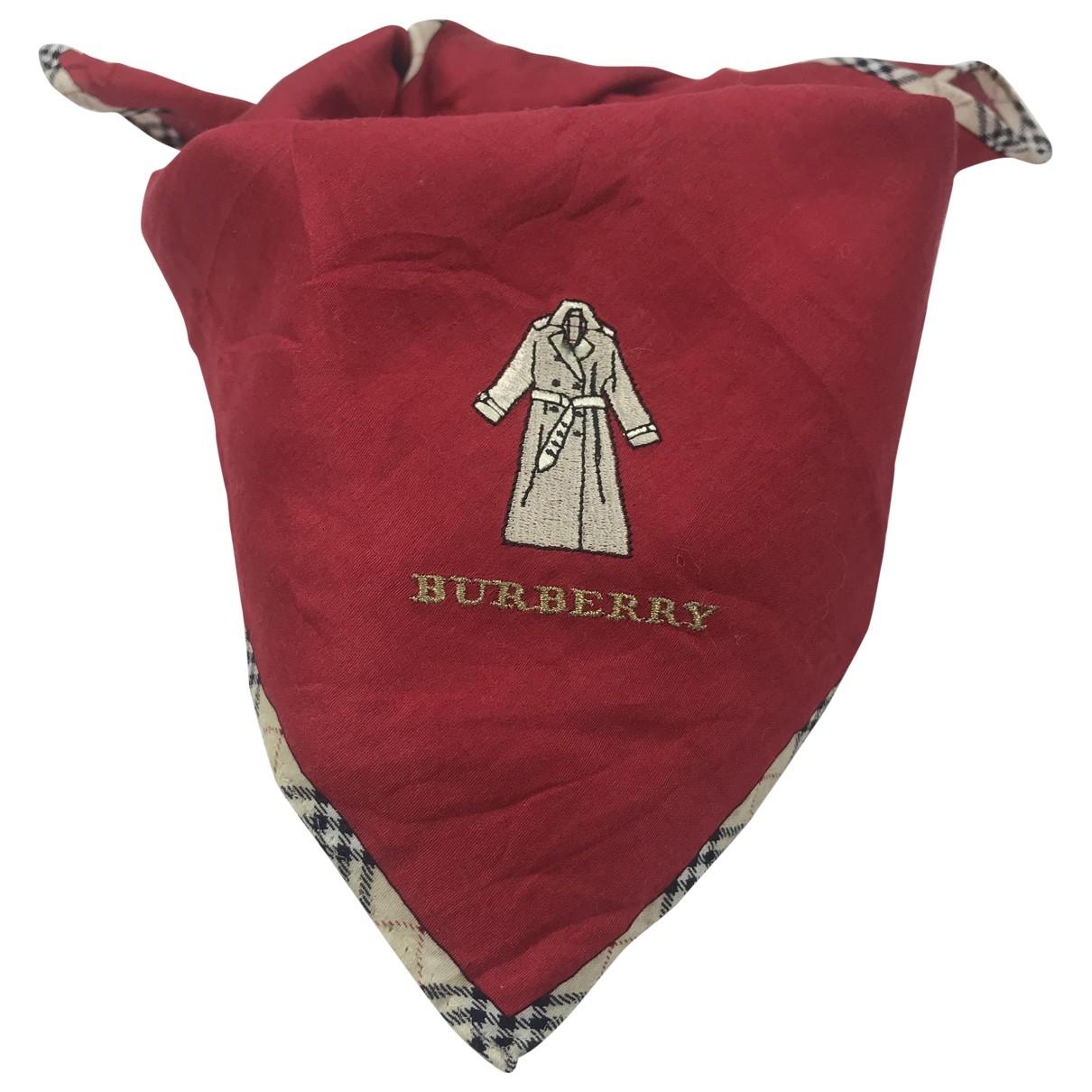 Burberry \N Red Cotton Silk handkerchief for Women \N