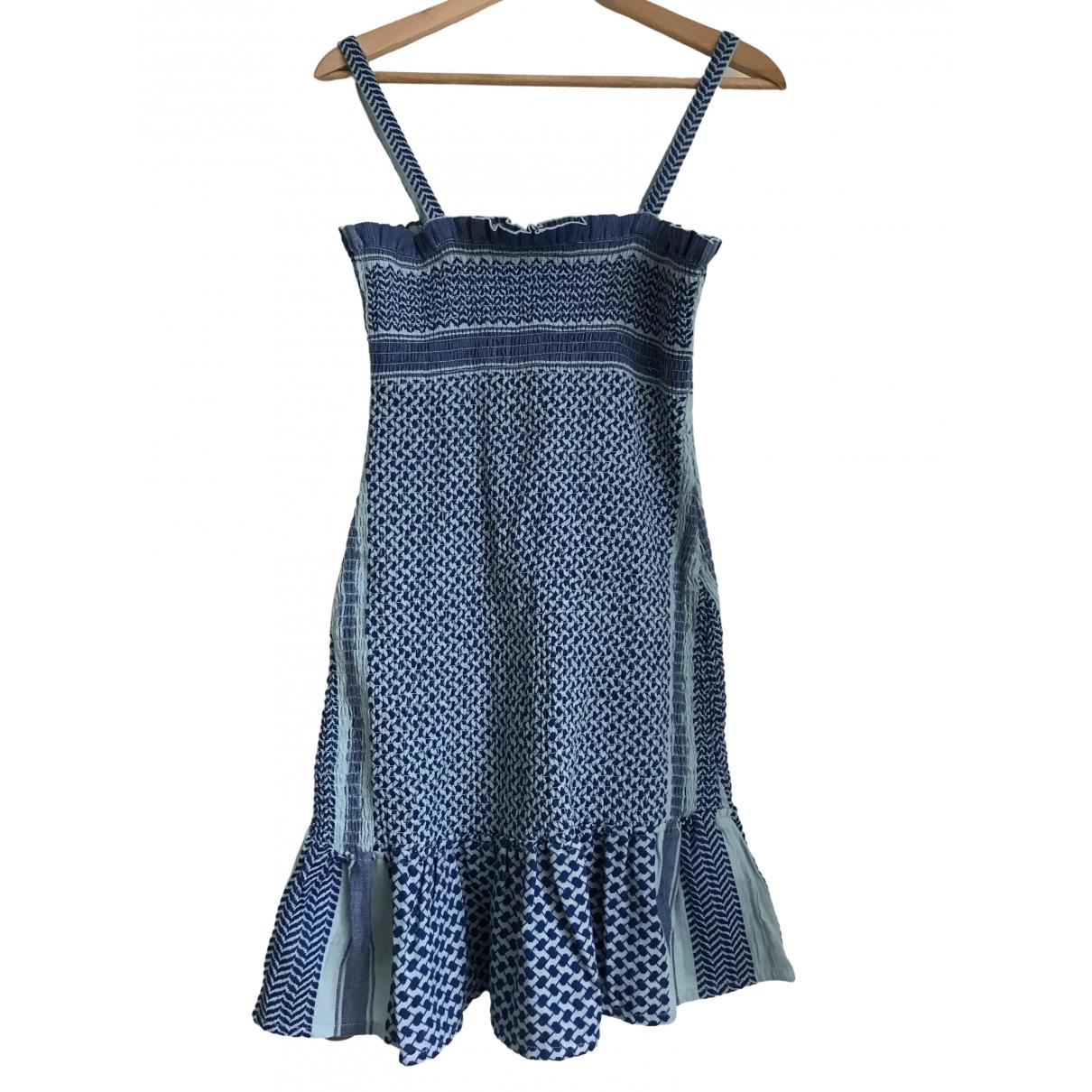 Cecilie Copenhagen - Robe   pour femme en coton - bleu