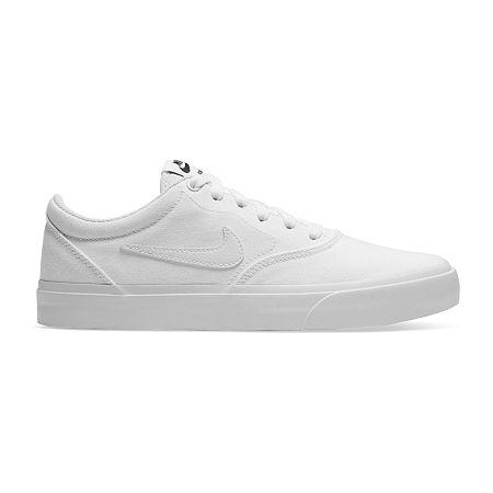 Nike Charge Canvas Womens Skate Shoes, 8 Medium, White