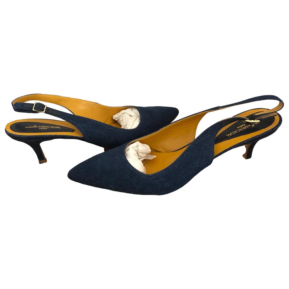 Atelier Mercadal - Escarpins   pour femme en cuir - bleu