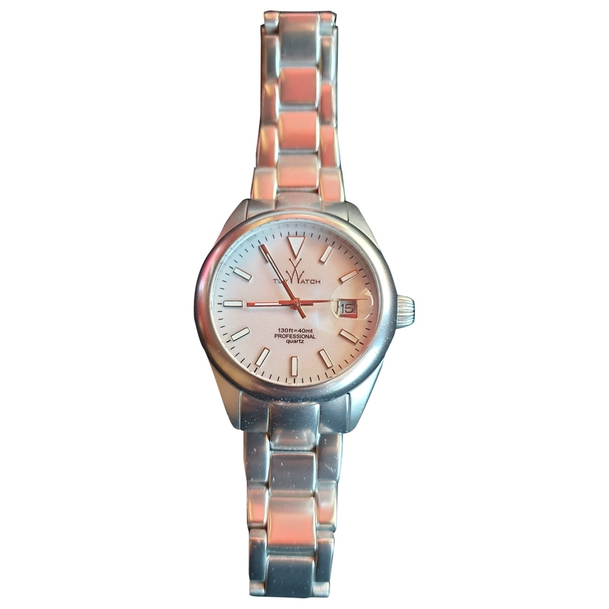 Non Signé / Unsigned \N Silver Steel watch for Women \N