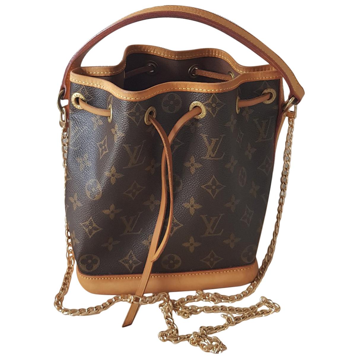 Louis Vuitton Noe Handtasche in  Braun Leder
