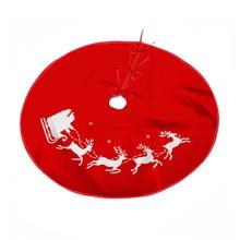 Falda de arbol de navidad con estampado de alce