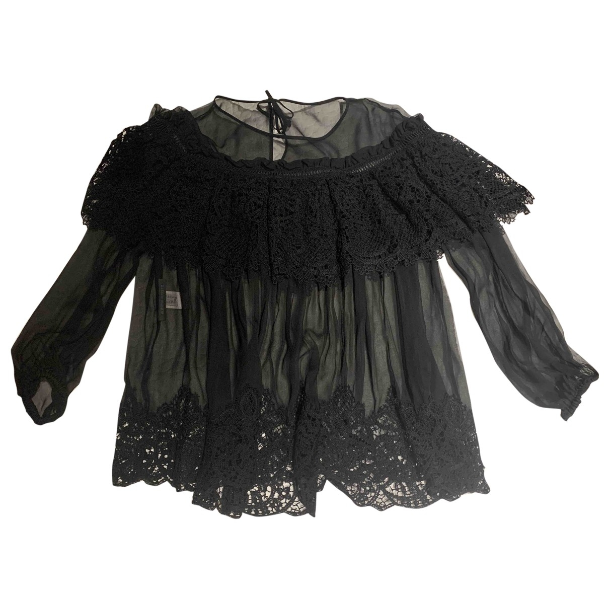 Alberta Ferretti - Top   pour femme en soie - noir
