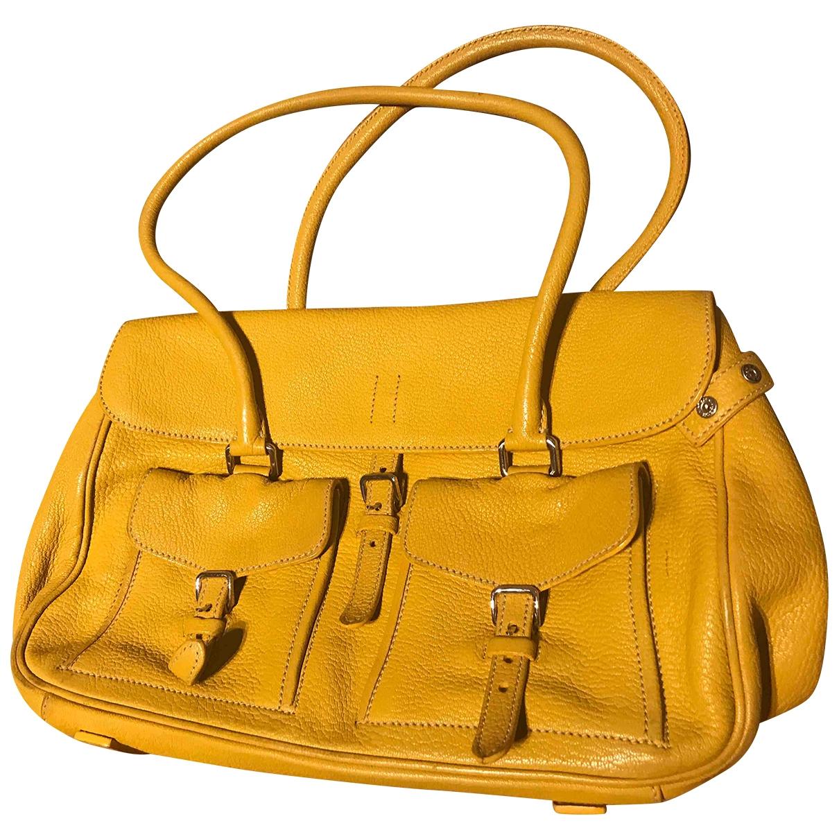 Jil Sander \N Yellow Leather handbag for Women \N