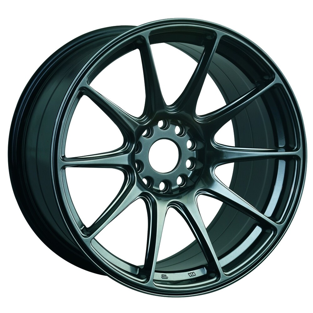 Xxr 527 15x8.25 4x100/4x114.3 0et 73.1mm flat black wheel