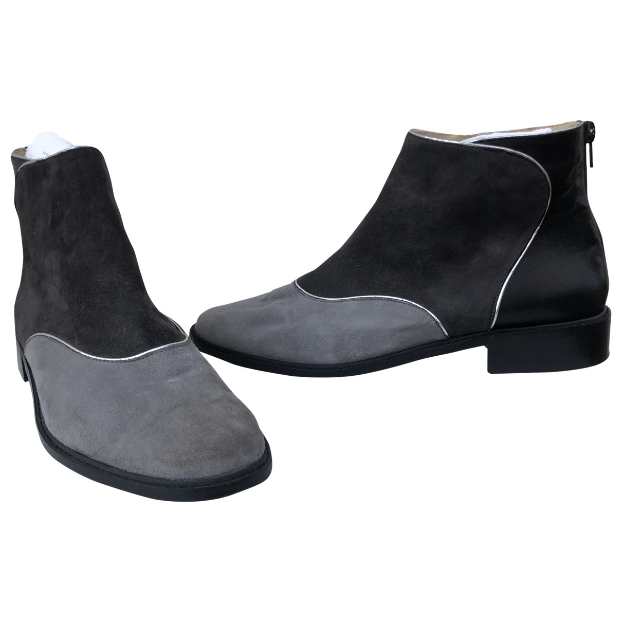 Mellow Yellow \N Grey Leather Boots for Men 41 EU